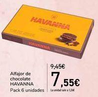 Oferta de Alfajor de chocolate HAVANNA  por 7,55€