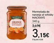 Oferta de Mermelada de naranja al whisky MACKAYS por 3,15€