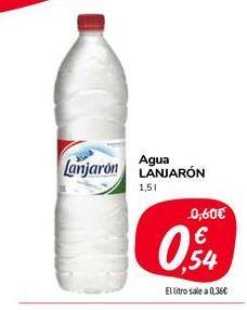 Oferta de Agua Lanjarón 1.5 l por 0,54€
