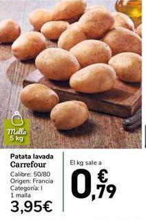 Oferta de Patatas lavadas  carrefour por 0,79€