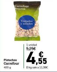 Oferta de Pistachos carrefour 400 g por 4,55€