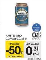 Oferta de AMSTEL ORO Cerveza  por 0,63€