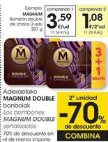 Oferta de MAGNUM bombones double de choco  por 3,59€