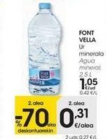 Oferta de FONT VELLA Agua mineral  por 1,05€