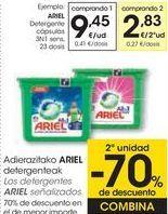 Oferta de ARIEL Detergente cápsulas  por 9,45€