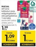 Oferta de PASCUAL Leche UHT Calcio entera, semi y desnatada  por 1,39€