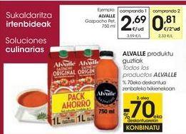 Oferta de ALVALLE Gazpacho  por 2,69€