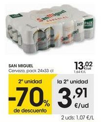 Oferta de SAN MIGUEL Cerveza  por 13,02€