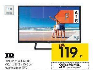 Oferta de TD SYSTEMS Led TV K24DLX11H por 119€