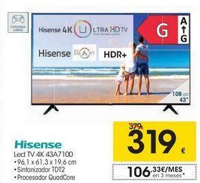 Oferta de Hisense Led TV 4K 43A7100 por 319€