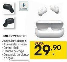 Oferta de ENERGY SISTEM Auricular urban 4 por 29,9€