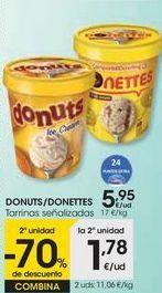 Oferta de DONUTS/DONETTES Tarrinas señalizadas por 5,95€