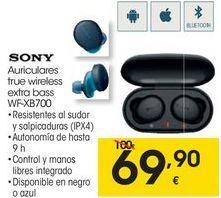 Oferta de SONY Auriculares true wireless extra bass WF-XB700 por 69,9€