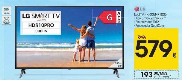 Oferta de LG LedTV 4K 60UN71006 por 579€