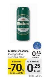 Oferta de MAHOU CLÁSICA Cerveza por 0,83€