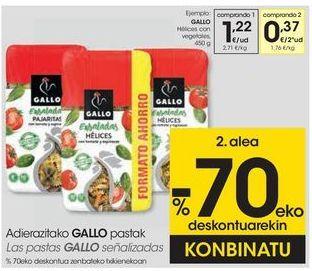 Oferta de GALLO Hélices con vegetales  por 1,22€