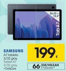 Oferta de SAMSUNG Tablet A7 por 199€