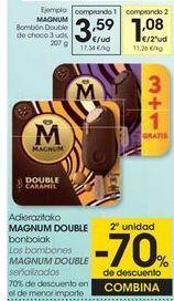 Oferta de MAGNUM Bombón Double de choco por 3,59€