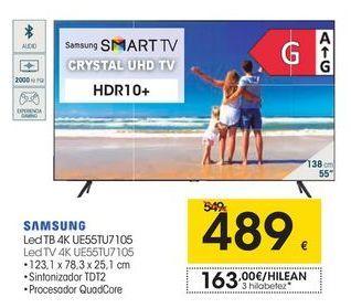 Oferta de SAMSUNG LedTV 4K UE55TU7105 por 489€