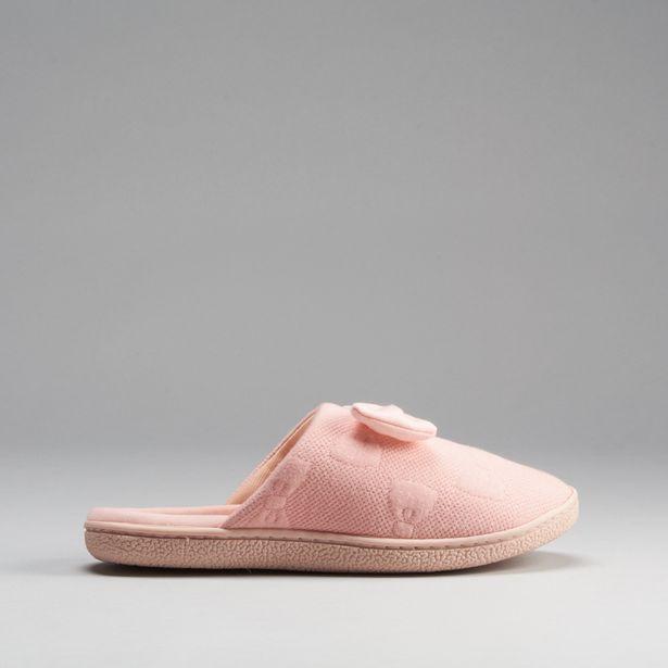 Oferta de Zapatilla casa lazo rosa OLYNE por 3,99€
