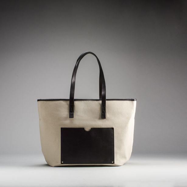Oferta de Shopper beige PICCOLA PIU. por 9,99€