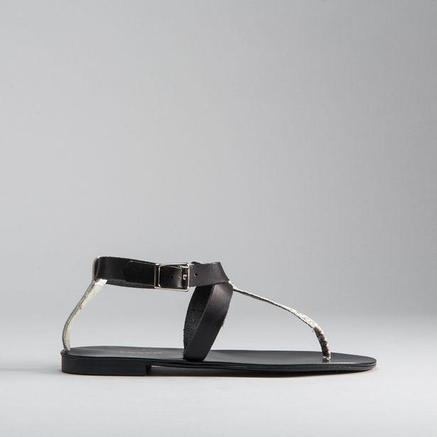 Oferta de Sandalia esclava print piel FOSCO por 14,99€