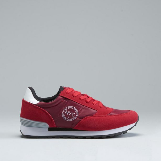 Oferta de Sneaker rojo NYC por 12,99€