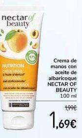 Oferta de Crema de manos con aceite de albaricoque NECTAR OF BEAUTY por 1,69€