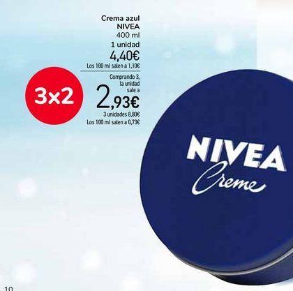 Oferta de Crema azul NIVEA por 4,4€