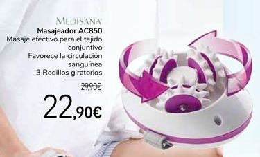 Oferta de MEDISANA Masajeador AC850 por 22,9€