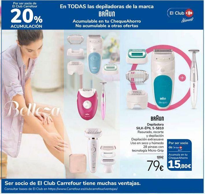 Oferta de En TODAS las depiladoras de la marca BRAUN  por