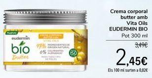 Oferta de Crema corporal butter con Vita Oils EUDERMIN BIO Tarro por 2,45€