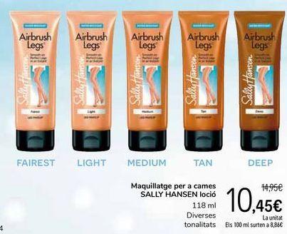 Oferta de Maquillaje para piernas SALLY HANSEN loción por 10,45€