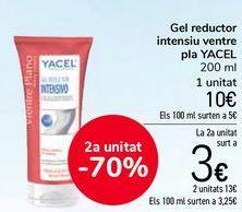 Oferta de Gel reductor intensivo vientre plano YACEL por 10€