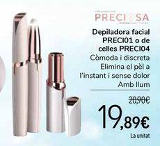 Oferta de Depiladora facial PRECI01 o de cejas PRECI04 por 19,89€
