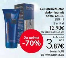 Oferta de Gel ultrareductor abdominal noche hombre YACEL por 12,9€