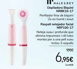 Oferta de NALK&REY Depiladora Bikini NRBK10-17 Cepillo limpiador facial NRF100-17 por 6,95€