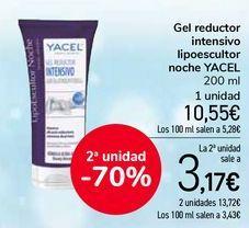 Oferta de Gel reductor intensivo lipoescultor noche YACEL por 10,55€