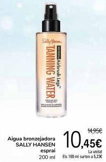 Oferta de Agua bronceadora SALLY HANSEN spray por 10,45€