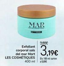 Oferta de Exfoliante corporal sales del Mar Muerto LES COSMÉTIQUES por 3,19€