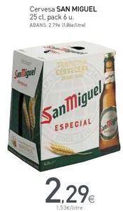 Oferta de Cervesa SAN MIGUEL  por 2,29€