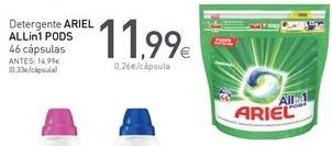 Oferta de Detergente ARIEL ALLin1 PODS por 11,99€