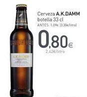 Oferta de Cerveza A.K.DAMM por 0,8€