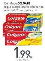 Oferta de Dentífrico COLGATE por 1,99€