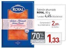 Oferta de Salmón ahumado ROYAL por 4,45€