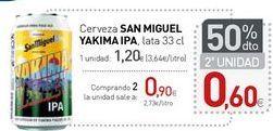 Oferta de Cerveza SAN MIGUEL YAKIMA IPA por 1,2€