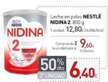 Oferta de Leche en polvo NESTLÉ NIDINA 2 por 12,8€