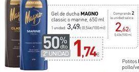 Oferta de Gel de ducha MAGNO classic o marine  por 3,49€