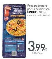 Oferta de Preparado para paella de marisco FINDUS por 3,99€