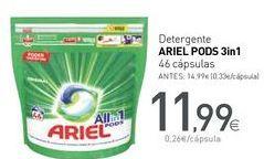 Oferta de Detergente ARIEL PODS 3in1 por 11,99€